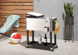 Ice Cooler Chest Box Tub Bucket Steel Party Lar... - $196.01