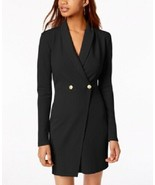 PLANET GOLD Black Above Knee Long Sleeve Gold Button Blazer Dress NWT XL - $15.36