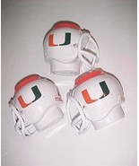 Miami Hurricanes ACC Football Helmet NCAA Pen Pencil Can White Holder Lo... - $29.69