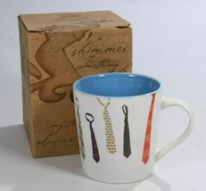 NEW In Box Starbucks 2004 Collectors Necktie Coffee Mug Blue Interior - $29.14