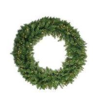 "24"""" Pre-lit Northern Pine Artificial Christmas Wreath - Clear Lights - ₨4,248.28 INR"