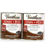 (2) Varathane Stain & Poly Rich Color 266162 American Walnut Semi Gloss 32 Oz - $31.67