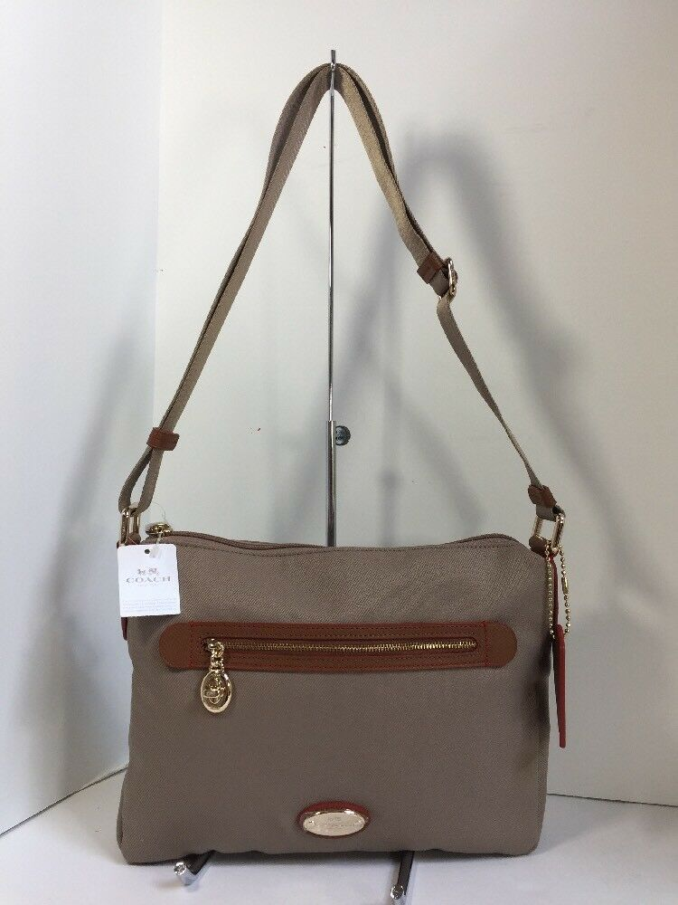 New Coach Crossbody Bag Fume Nylon F37337 Stone Brown B2A image 2