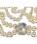 Baroque South sea Pearl Natural Cornflower Sapphire opal moonstone 14k n... - $3,990.00