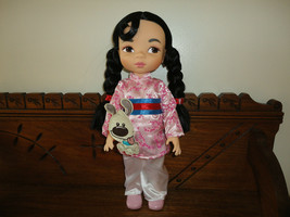 Disney MULAN Baby Doll & Little Brother DOG 16 inch - $56.40