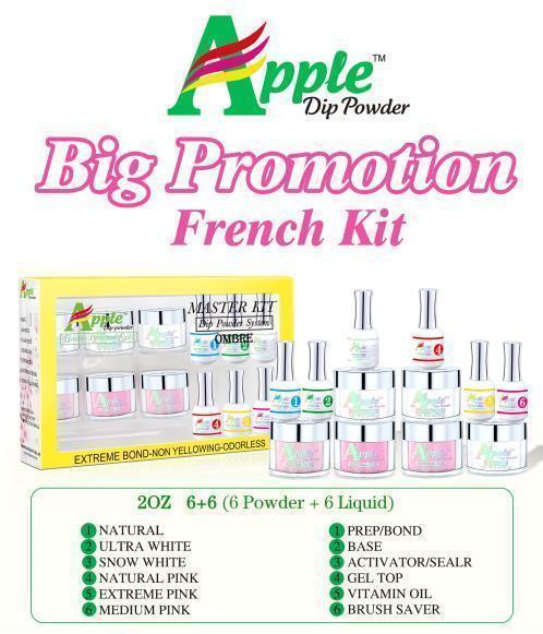 Apple Dipping powder  FRENCH SALON PRO KIT
