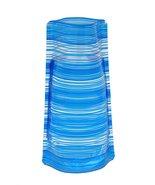 Wholesale Bloomers Plastic Foldable Reusable Vase Turquoise Stripe Print - $9.79