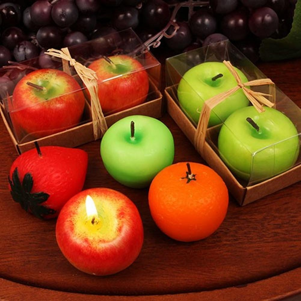 Two Fruit Shaped Candles Set - Assorted - 72 Sets