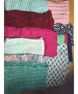Lot 10 Infinity Scarves  Various Seasons Colors Textures - $28.04