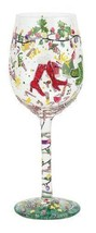 Lolita Holiday Party Wine Glass Retired Rare New in box w tag Christmas ... - $28.09
