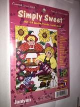 janlynn Simply Sweet #54-99 Garden Friends  Counted Cross Stitch Kit - $6.50