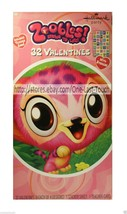 ZOOBLES* 32 Cards+Stickers VALENTINES DAY Spring To Life HALLMARK Classr... - $2.96