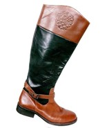 Vince Camuto Women's Flavian Black Brown Equestrian Riding Boots Size 9B - $59.39