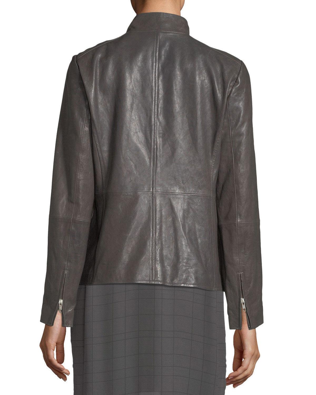 Classic Front Zip Women's Genuine Soft Lambskin Slim Fit Leather biker Jacket