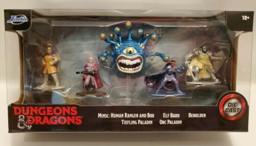 Dungeons & Dragons Jada Diecast 5 Pack Wizards Of The Coast 31692 Figures Mini - $12.59