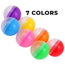 Empty Clear-Colored Round Capsules 2 inch 50 pcs Bulk 7 Colors Capsule For Toy G image 3