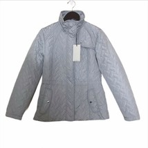 NWT Cole Haan Signature Womens Small Jacket Quilted Full Zip Light Grayi... - $86.89
