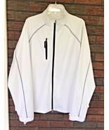 Bobby Jones X-H20 Jacket XL White Full Zip Hoodie Pockets Adjustable Sle... - $34.65