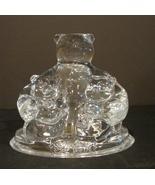 Cristal D'Arques-Durand Coca Cola (Embossed) Bear~ Cubs - $21.00