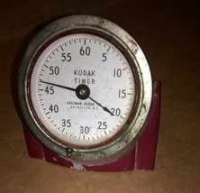 Antique Genuine Red Art Deco Eastman Kodak Darkroom Timer - $45.00