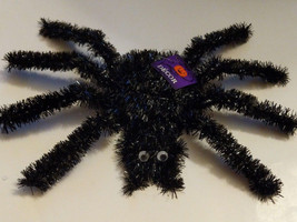 """New Black Tinsel Spider Has Googley Eyes For Wall/Table Top Decor 11"""" X 14"""" - $5.00"""