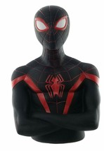 Marvel Spider-man Miles Morales Black Suit 3D Bust Coin Bank - $14.99