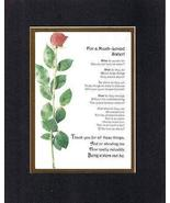 Touching and Heartfelt Poem for Sisters - For a Much Loved Sister Poem o... - $15.79