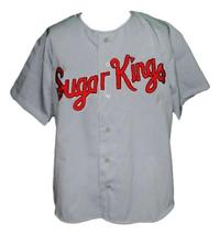 Custom Name # Havana Sugar Kings Baseball Jersey Button Down Grey Any Size image 3