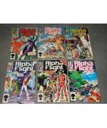 Marvel Comics: Alpha Flight Vol. 1 No. 21 23 26 27 28 29 [Lot of 6] - $14.00