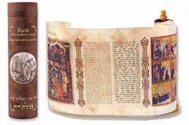 Ruth Scroll In Decocative Box Hebrew And English