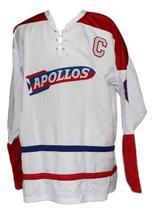 Custom Name # Houston Apollos Retro Hockey Jersey New White Any Size image 3