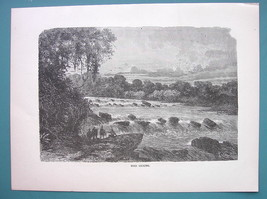 PERU South America Rio Cconi - 1887 Wood Engraving - $8.55