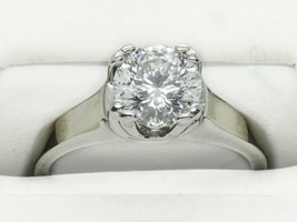 1.50ct tw Round Diamond Helzberg Diamonds 14k White Gold Ring Size 6 - $6,500.00