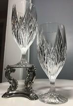 2 Vintage MIKASA PARKRIDGE CRYSTAL ICE TEA OR WATER GOBLETS GLASSES 7 3... - $34.50