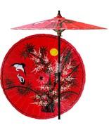 Asian Splendor (Dragon Red) Outdoor Patio Umbrellas - $199.95