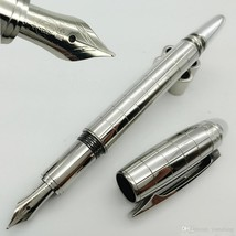1 PCS MB Fountain Pen 14K nib 4810 TOP quality Silver checks Stationery ... - $20.99