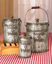 Country Living Canister Set Decor Rustic Primit... - $15.82