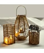 Nest Shaped Lantern Iron Metal Figurine Tea Light Holder for Home Decor ... - $62.95