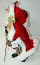 Roman Incorperated Detailed Santa Figurine Holding Filigree Gold Staff image 6