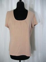 Alfani Cap Sleeve Peach Top Size L - $15.99