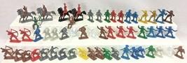 Vintage Cowboys Indians Horses 54 Western Plastic Men Multi-Color Toy Fi... - $22.95