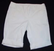Ann Taylor Loft Nuevo con Etiquetas Pantalón Corto Talla 0 XS Blanco Ber... - $25.77