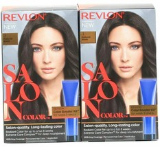 (2) Revlon Salon Color 3 Natural Black Booster Kit Luminous Gray Coverage - $23.75