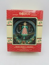 "Enesco 12 days of Christmas Ornaments ""Eleven Drummers Drumming"" w box  - $24.70"
