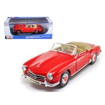 1955 Mercedes Benz 190 SL Red 1/18 Diecast Model Car  by Maisto 31824r - $49.36