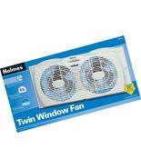 Holmes Dual Blade Twin Window Fan White Medium [New] - $29.99