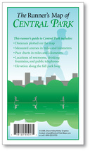The Runner's Map of Central Park: pocket-sized, with measured courses an... - $6.95