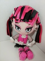 Monster High Stylized Plush Doll Draculaura Freaky and Fabulous ribbon H... - $8.90