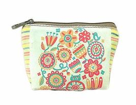 Vintage Flower Canvas Cosmetic Bags/Purse