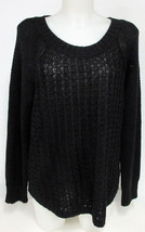 Calvin Klein Jeans Ladies' Core Texture Mixed Crew Sweater - Black - X-L... - $21.66